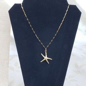 Vintage 14kt Gold Dipped Starfish Necklace